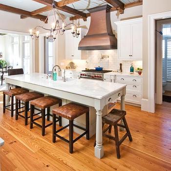 Faux Finish on Kitchen Hood, Cottage, kitchen, Carolina Kitchens