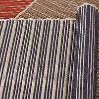 Rugs - Reversible Striped Indoor/Outdoor Rug - Blue | Pottery Barn - striped, blue, indoor, outdoor, rug