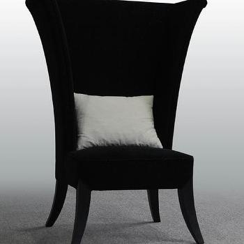 Seating - Prague Chair - black, velvet, wingback, chair