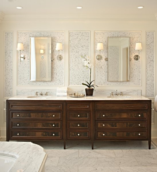 McGill Design Group - bathrooms - Bryant Sconce, mahogany vanity, mahogany double vanity, mahogany washstand, mahogany double washstand, mahogany cabinets, mahogany bathroom cabinets, stained cabinets, stained bathroom cabinets, mahogany vanity, mahogany bathroom vanity, double vanity, double vanity ideas, double bathroom vanity, double bathroom vanities, mahogany bathroom vanity, mahogany bathroom vanities, mahogany double vanity, mahogany double vanities, mahogany double bathroom vanity, mahogany double bathroom vanities,