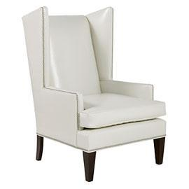 Seating - Clift Accent Chair - Eggshell | Z Gallerie - Leather Chair