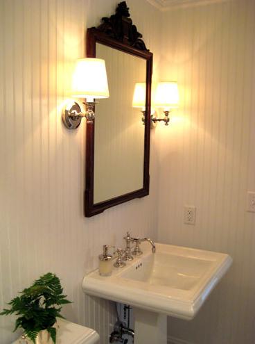 Powder Room With Pedestal Sink