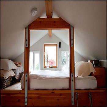 Loft Bedroom, Eclectic, garage