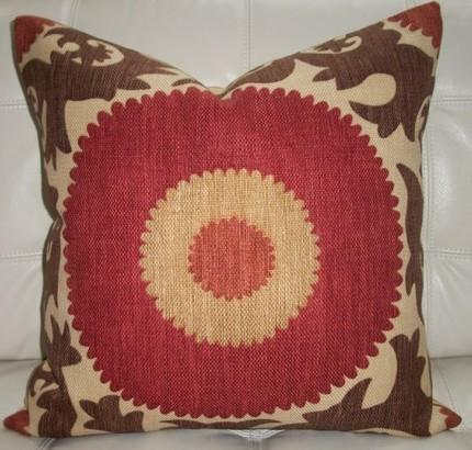 Pillows - NEW Decoratve Designer Pillow Cover 20X20  Suzani by elegantouch - pillow