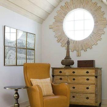 Orange Leather Chair, Cottage, den/library/office, Phoebe Howard