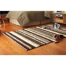 Rugs - Walmart.com: Your Zone Shag Rug, Brown Stripe: Decor - striped, rug