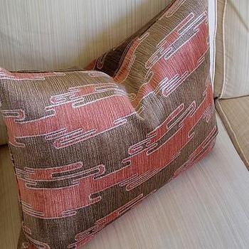 Kelly Wearstler Sora Velvet Cushion Rust/Mocha by plumcushion