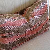 Pillows - Kelly Wearstler Sora Velvet Cushion Rust/Mocha by plumcushion - pillow, pillows, pink, brown
