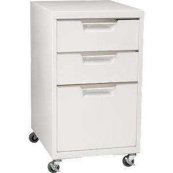 Storage Furniture - CB2 - trig white file cabinet - file, cabinet