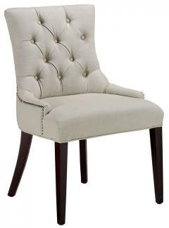 Seating - Amanda Accent Chair - Accent Chairs - Living Room Furniture - Furniture | HomeDecorators.com - tufted, nailhead, trim, dining, chair