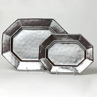 Decor/Accessories - Pewter Medium Platter | Gump's San Francisco - pewter, platters
