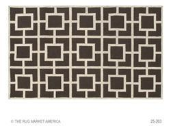 Rugs - Lloyd Polypropylene Acrylic Area Rug in Brown and Cream from The Rug Market Collection - brown, cream, rug