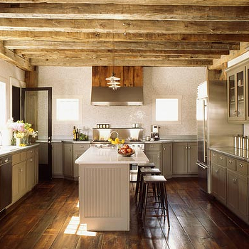 Exposed Wood Beams, Country, kitchen, S. Russell Groves