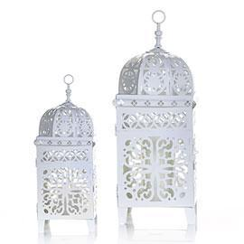 Z Gallerie, Casablanca Lanterns, White