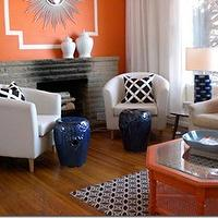 House & Home - bedrooms - tullsta, tullsta chairs, ikea tullsta chairs, ikea tullsta, ikea chairs, orange and blue living room, blue garden stool, blue stools, orange coffee table, hex coffee table, garden lattice pillows, , Ikea Tullsta Chair,