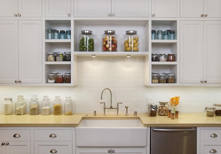 Subway tiles backsplash transitional kitchen White kitchen cabinet hardware ideas