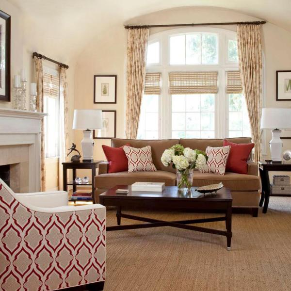 Living room for Neutral decor with pops of color
