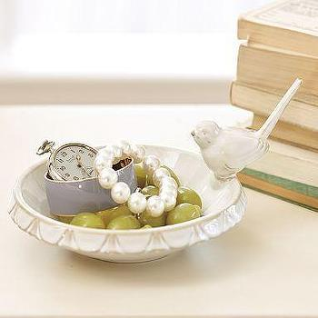 Decor/Accessories - Bird Jewelry Dish | Pottery Barn - bird, jewelry, dish