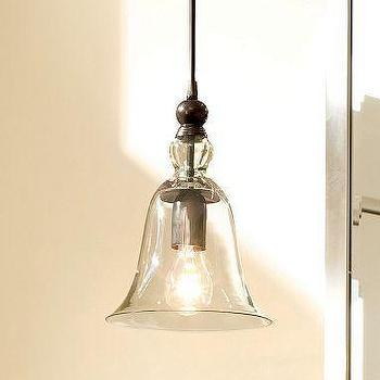 Lighting - Rustic Glass Pendant | Pottery Barn - bell, glass, pendant