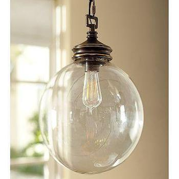 Lighting - Calhoun Glass Pendant | Pottery Barn - glass, pendant, light