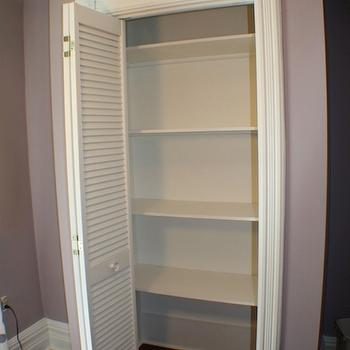 Life Begins at Thirty, Right? - closets - Benjamin Moore - Sanctuary - Closet, lavender walls, lavender paint, lavender paint colors,  Closet