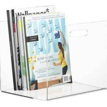 Decor/Accessories - CB2 - format floor magazine holder - acrylic, magazine, holder