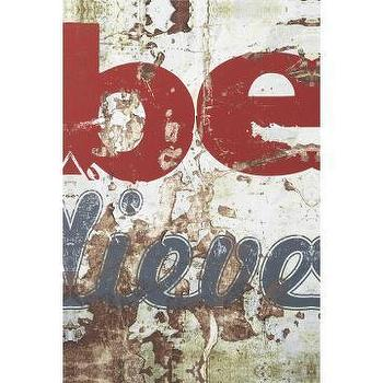 Art/Wall Decor - CB2 - believe print - art