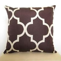 Pillows - Lattice Work Designer Pillow 18 inch / Java and by WillaSkyeHome - lattice, pillow