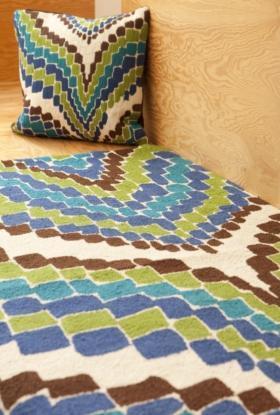 Rugs - Trina Turk | Lator Gator Hook Rug - trina turk, lator gator, blue, rug