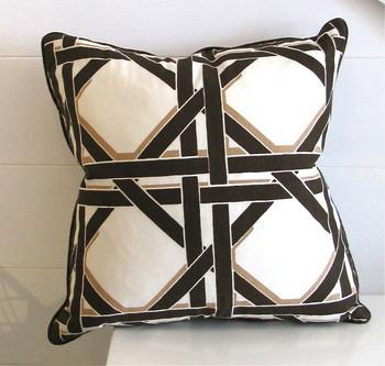 Pillows - Chocolate Trellis Pillow | Pieces - trellis, pillow