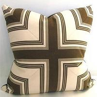 Pillows - Brown Mitered Pillow | Pieces - mitered, pillow