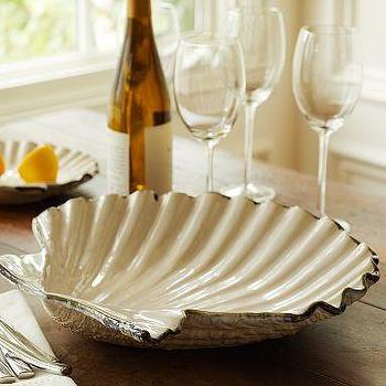 Decor/Accessories - Scallop Platter | Pottery Barn - scallop, platter