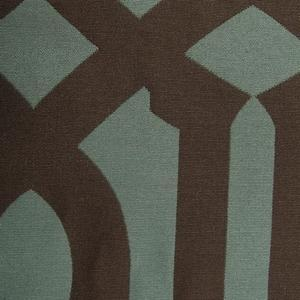 Fabrics - Karloff Lagoon Fabric - Designer Fabric Studio - trellis, fabric, blue, brown