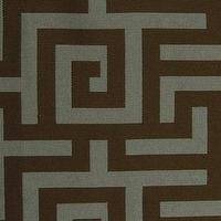 Fabrics - Meltzer Lagoon Fabric - Designer Fabric Studio - brown, blue, geometric, fabric