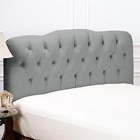 Beds/Headboards - Tufted Fabric Headboard - Full at HSN.com - gray, tufted, headboard