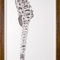 Art/Wall Decor - Rumana X-Ray Seahorse Panel 2 | Natural Curiosities - seahorse, art
