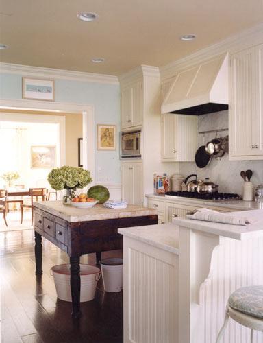 Beadboard kitchen cabinets cottage kitchen elizabeth for Beadboard kitchen cabinets