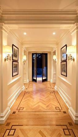 Greek Key Floor Traditional Entrance Foyer Mcgill