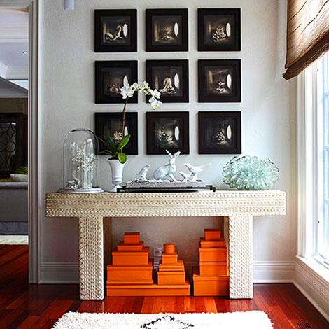 Hermes Boxes Eclectic Entrance Foyer Traditional Home