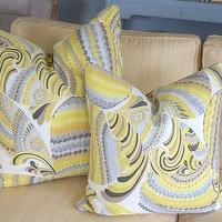 Pillows - Trina Turk Pisces Print Cushion Driftwood 18 inch by plumcushion - trina turk, pisces, pillows