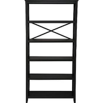 Storage Furniture - American Signature Furniture - Home Office - Plantation Cove Black 6-Level Bookshelf - bookshelf