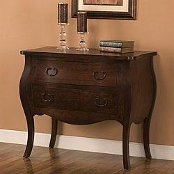 Storage Furniture - Espresso 2-drawer Bombe Chest | Overstock.com - bombe, chest