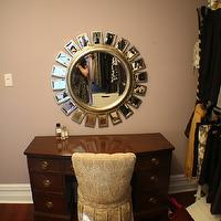 Life Begins at Thirty, Right? - closets - closet, mirror, sunburst, vanity, dressing room,  Dressing Room vanity and mirror