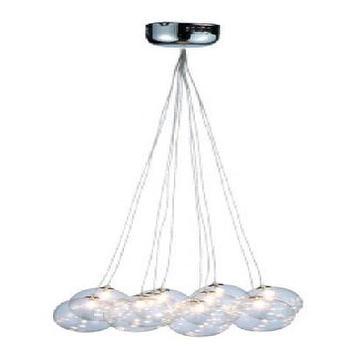 Lighting - Bubble Clear Glass Sphere Pendant Light Hanging Lamp Ceiling Light Kitchen Bar Silver Clear Glass Long - bubble, glass, pendant