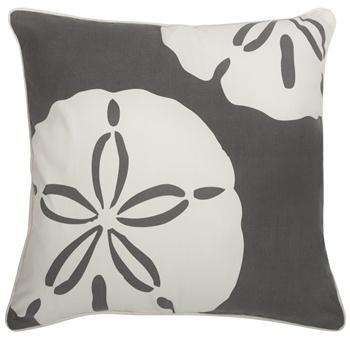 Sand Dollar Charcoal Pillow from the Outdoor Collection by Thomas Paul