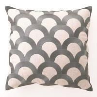 Pillows - DL Rhein Designer Needlepoint Pillows Chocolate Gold Gray Linen 16 inch square throw Pillows - gra, scales, pillow