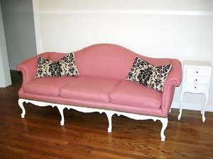 Seating - Hollywood Regency French Antique Vintage Sofa Couch - eBay (item 270587401967 end time Jun-07-10 22:10:52 PDT) - sofa. pink. hollywood regency