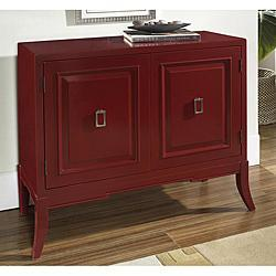 Storage Furniture - Hand-painted Ruby Red Accent Chest | Overstock.com - red, chest