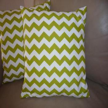 Pillows - Chevron Green Pillow / Cushion cover by vidastyle on Etsy - green, chevron, pillows, pillow