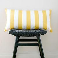 Pillows - YELLOW WHITE STRIPES Cotton Pillow Cover Cushion 63 by bestillshop - yellow, striped, pillow